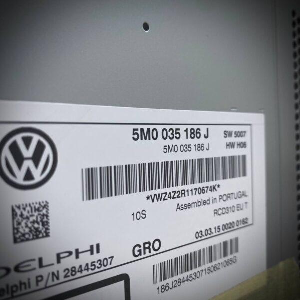 5M0035186J_Autoradio Mp3 Rcd 310 Volkswagen