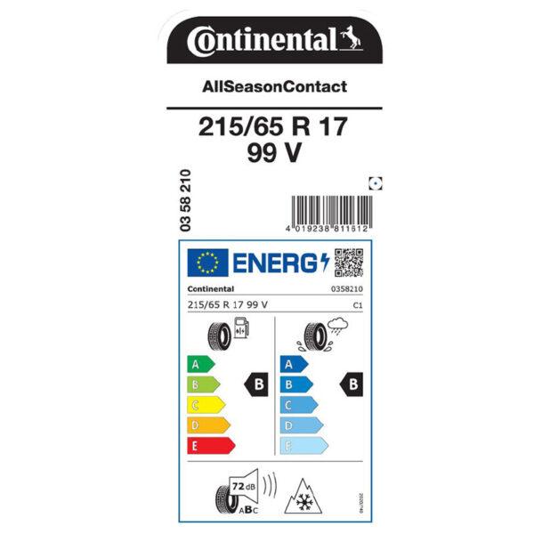 """ZTR215657VCALO-Serie 4 Pneumatici All Season Continental """"All Season Contact"""""""